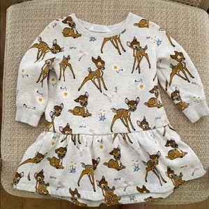 H&M Bambi dress 2T💛🦌